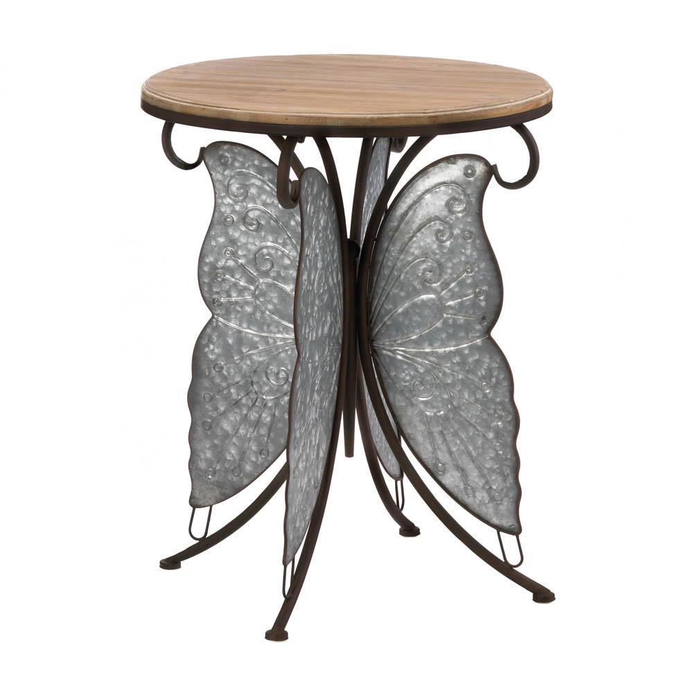 rustic butterfly accent table metal white end with drawer house decoration things mid century legs vintage dining round wood coffee glass top unique cocktail tables outdoor