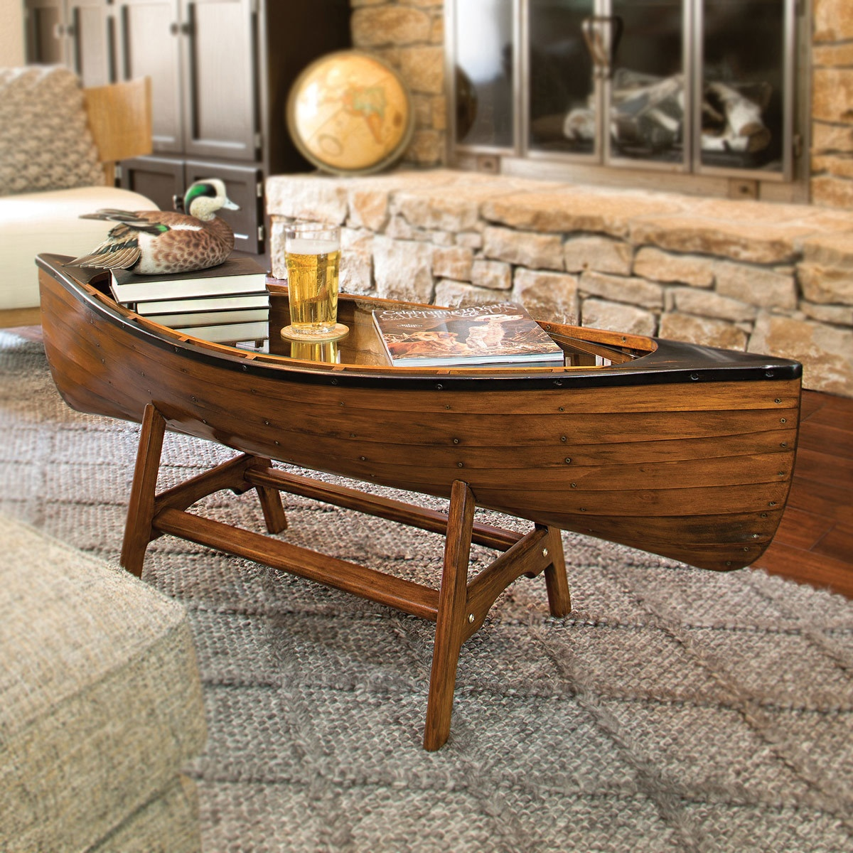 rustic coffee tables and end black forest decor canoe lodge table stratford wicker folding accent bronze white circle tablecloth half moon glass wood with metal frame sofa top