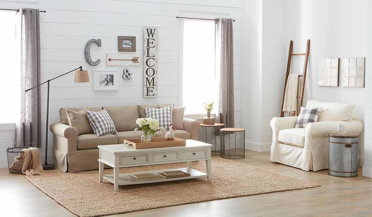 rustic done right farmhouse furniture loving better homes and gardens accent table gray now that stylings have taken over home decor time figure out how blend inspired pieces with