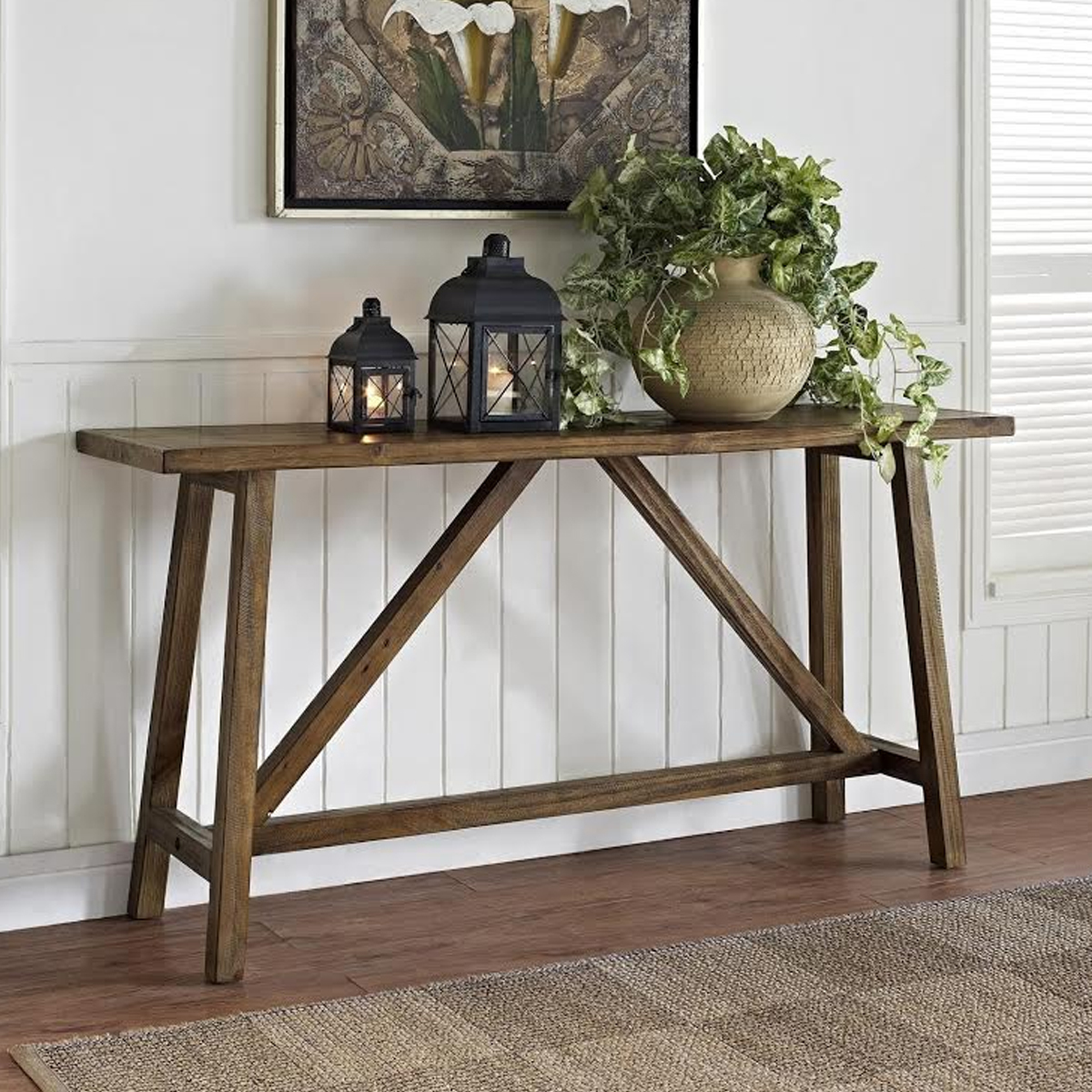 rustic done right farmhouse furniture loving better homes and gardens accent table gray wood console high end best home decor ping websites garden bathroom basin counter height