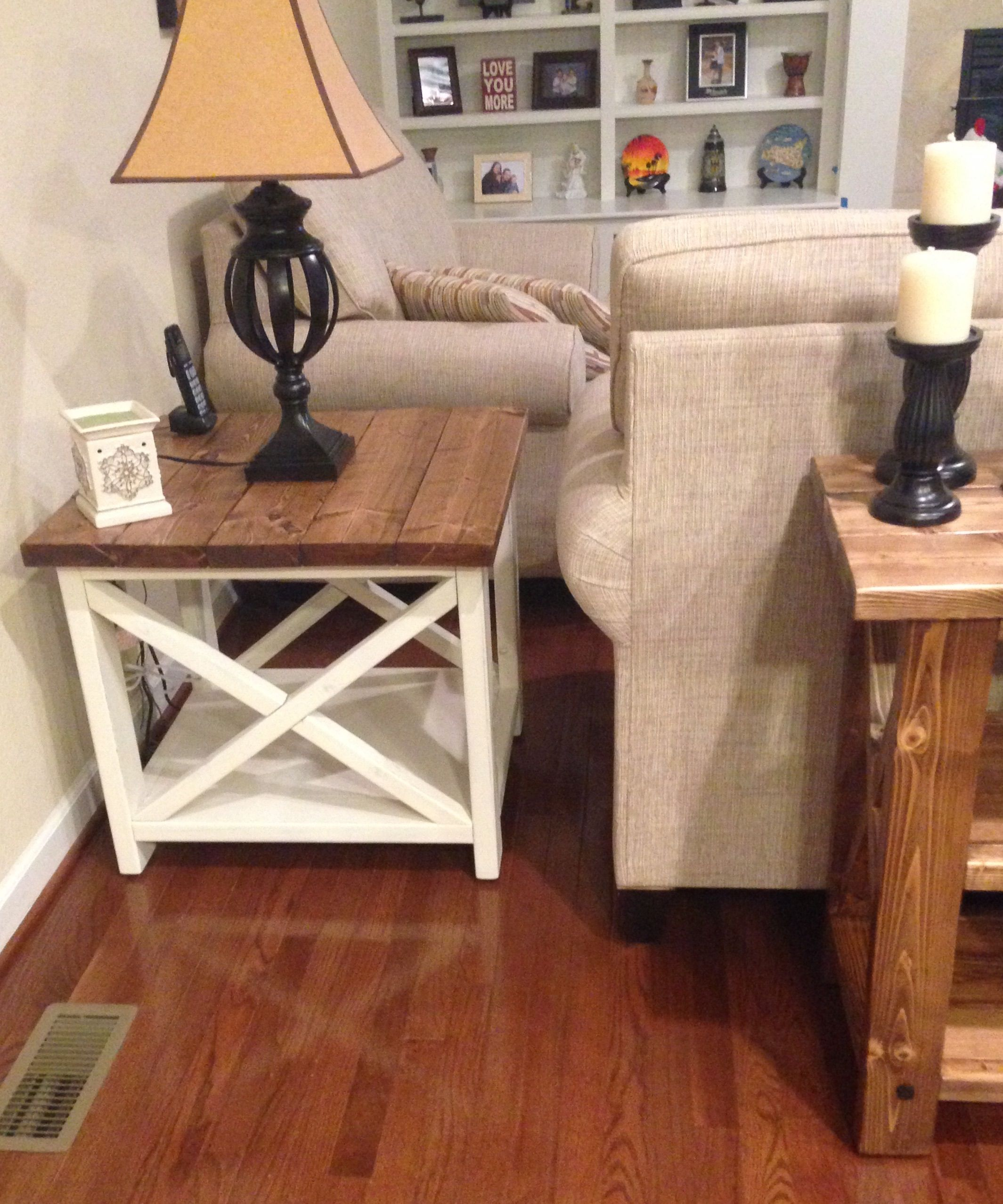 rustic end table yourself home projects from ana white farmhouse style accent lamps inexpensive coffee tables small round foyer goods dinnerware desk combo half top counter set