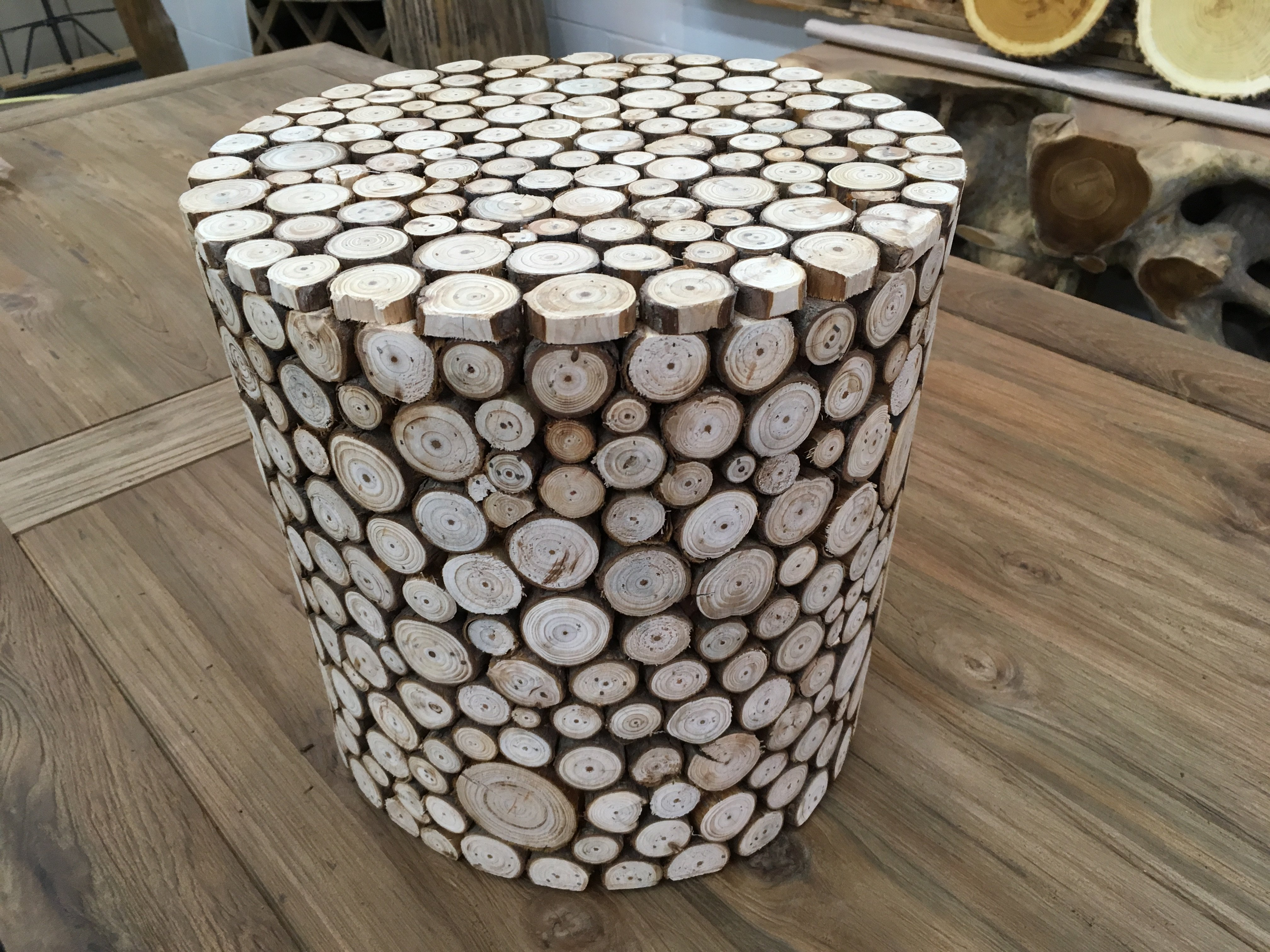 rustic european style wood accent stool side table decor for img log fir pub dining set circle coffee modern occasional tables compact office desk black nest ikea designer