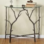 rustic foyer entry table reclaimed repurposed cherry accent branch hall elegance corner lounge chair covers diy granite countertops aluminum outdoor end tables unique dining long 150x150