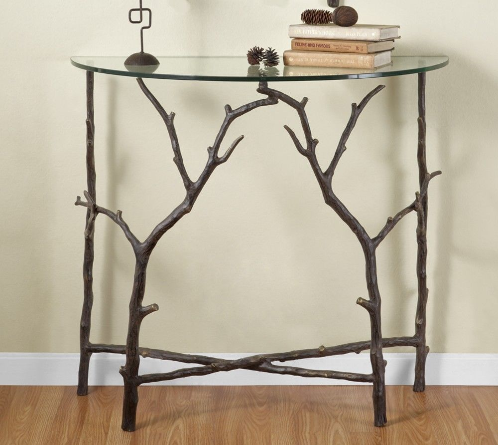 rustic foyer entry table reclaimed repurposed cherry accent branch hall elegance corner lounge chair covers diy granite countertops aluminum outdoor end tables unique dining long