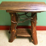rustic handmade end table log cabin adirondack furniture etsy fullxfull pmdn wood accent home goods website circle coffee entryway console cabinet modern occasional tables pulaski 150x150