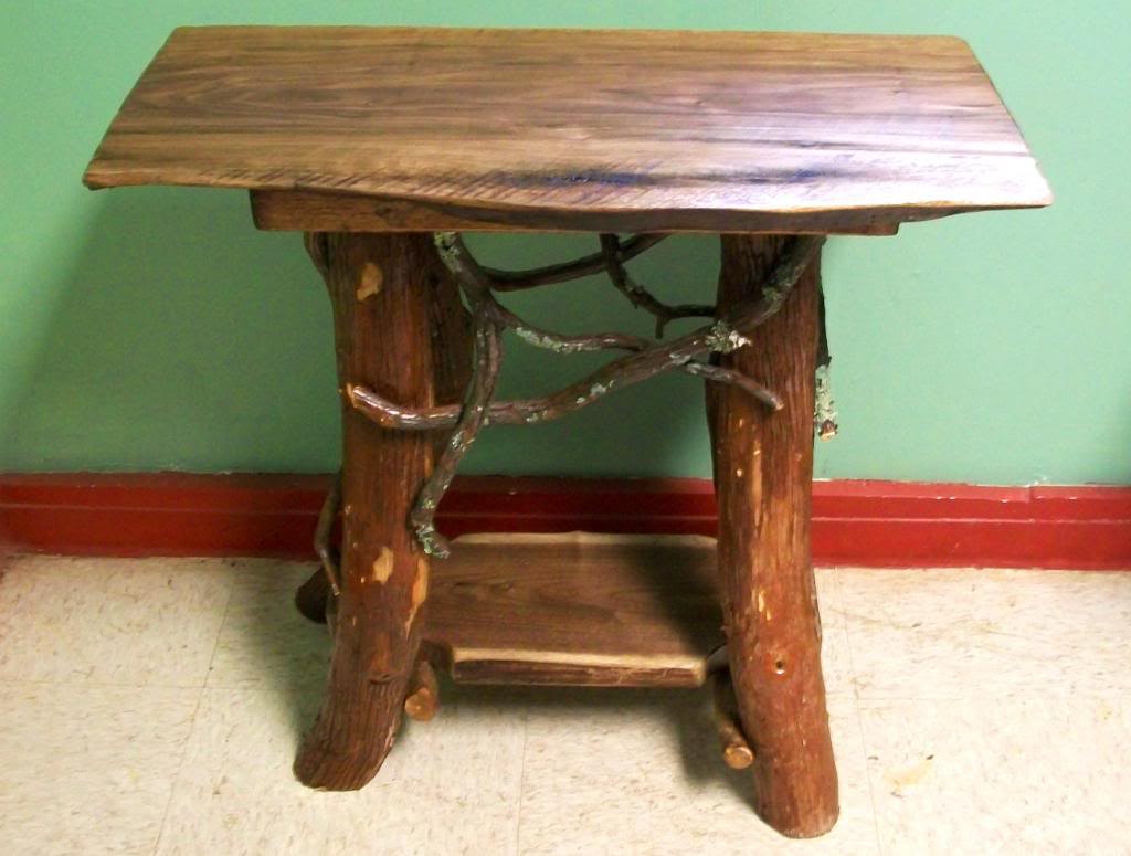 rustic handmade end table log cabin adirondack furniture etsy fullxfull pmdn wood accent home goods website circle coffee entryway console cabinet modern occasional tables pulaski