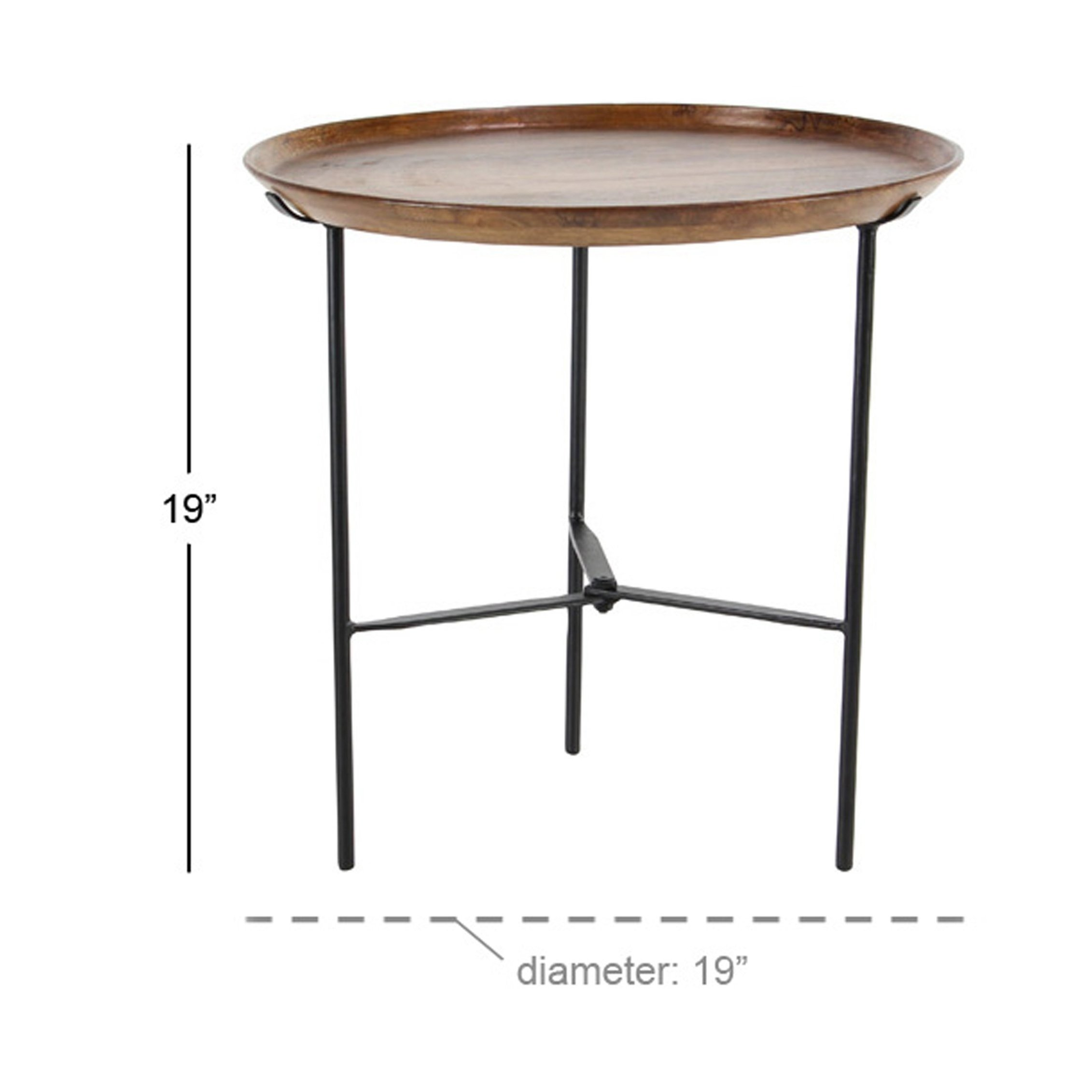 rustic inch round wood and iron accent table free shipping today best coffee designs square target patio loveseat cover desk chairs leather furniture large white bedside entry for