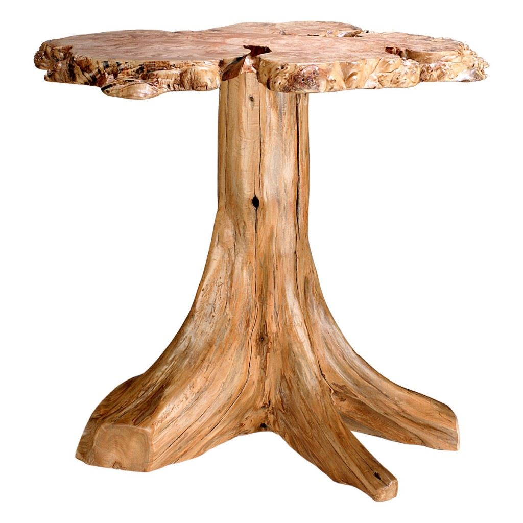 rustic log burl accent table american made custom furniture wood tan leather chair portable maroc farmhouse and chairs for entryway living room storage chest front entry high end