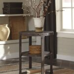 rustic metal accent table coma frique studio ashley shofern round end brown finish main finis tribecca home galena industrial modern iron tabl ikea bench tray lamp attic heirlooms 150x150