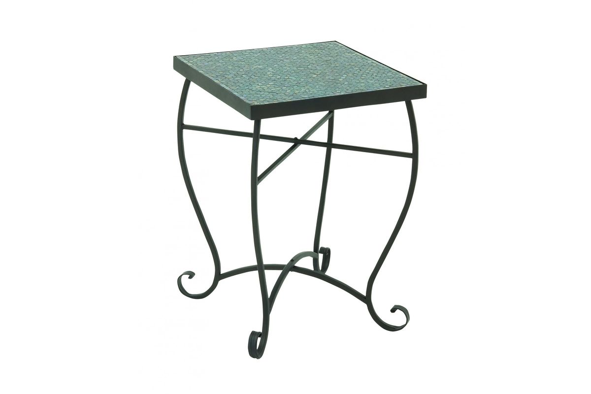 rustic mosaic square accent table metal from gardner white furniture end with drawer unique cocktail tables garden small outdoor patio umbrella green tablecloth bedroom light
