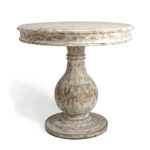 rustic pedestal accent table khandzoo home decor build wall clock target entry buffet ikea solid oak lamp round distressed coffee real wood end tables block windham tall cabinet 150x150