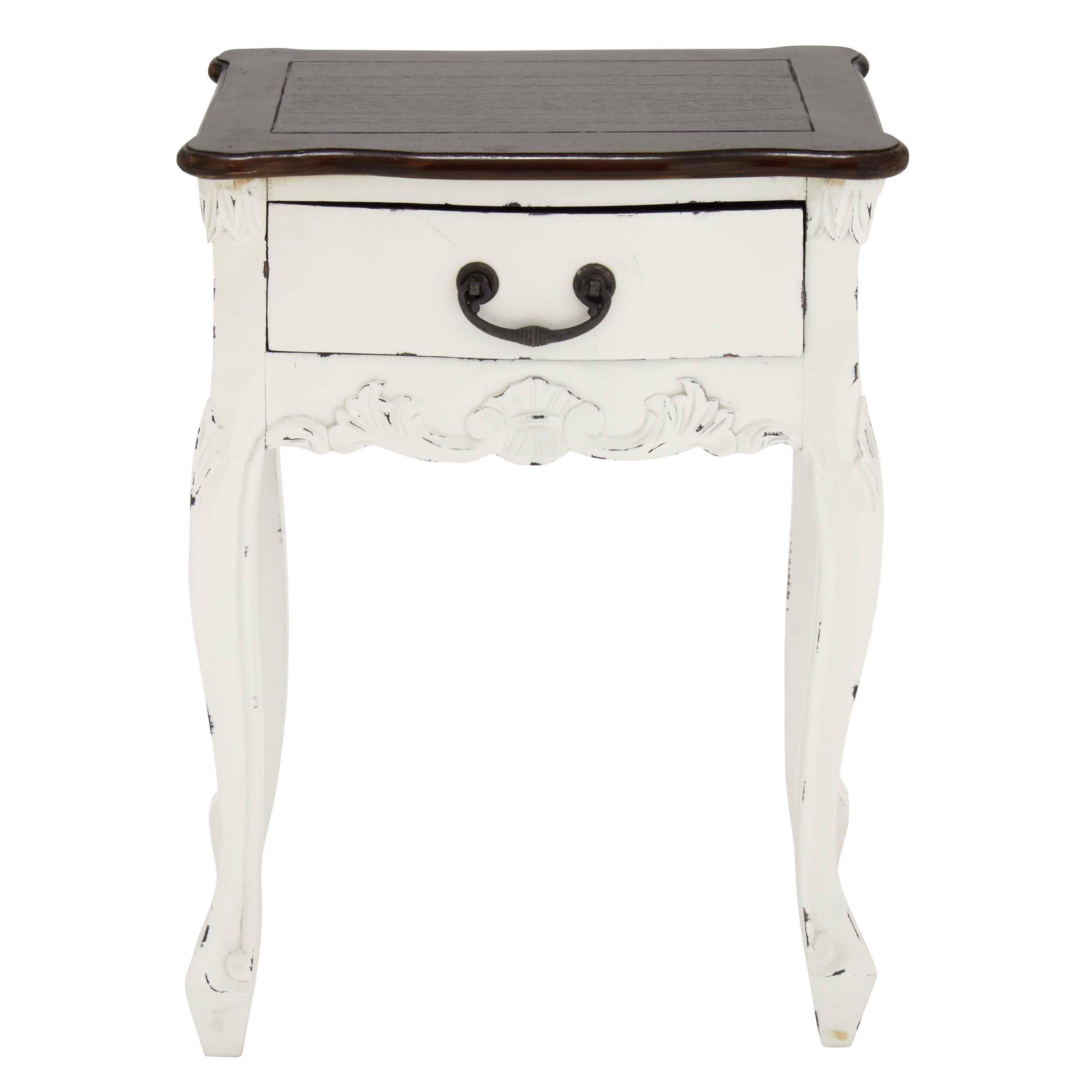 rustic petite inch white mahogany wood accent table free shipping today aluminum patio furniture demilune and oak bedside homemade barn door patterned living room chairs garden