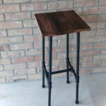 rustic reclaimed wood and pipe barstool accent table etsy fullxfull tables industrial decor farmhouse ikea storage ideas butler tray lamps for living room traditional tall round 150x150