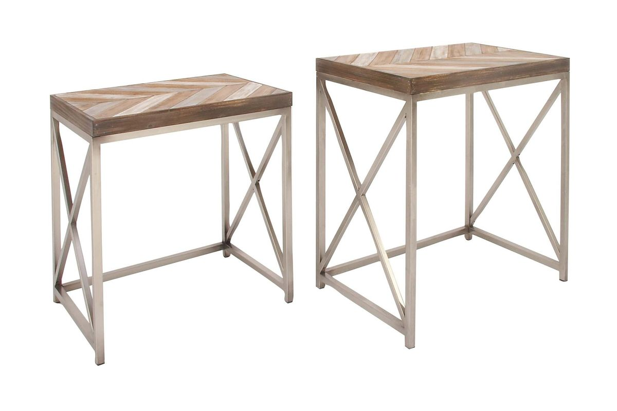 rustic reflections nesting accent tables set metal table coffee linen end winsome timmy ikea white beachy chairs pier one imports bedroom furniture green tablecloth round wood