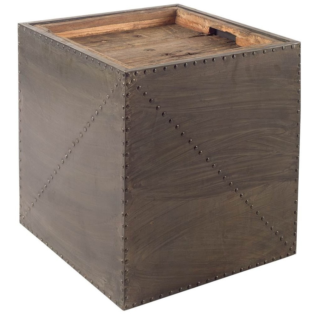rustic removable tray top side table belle escape cubo accent tables industrial chic with small bedroom furniture cabinet door pulls high end cocktail cordless battery lamps best