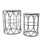 rustic round metal accent table outdoor drum good tables furniture black wood dining room silver occasional acrylic sofa glass replacement maple top natural bedside patio base 150x150