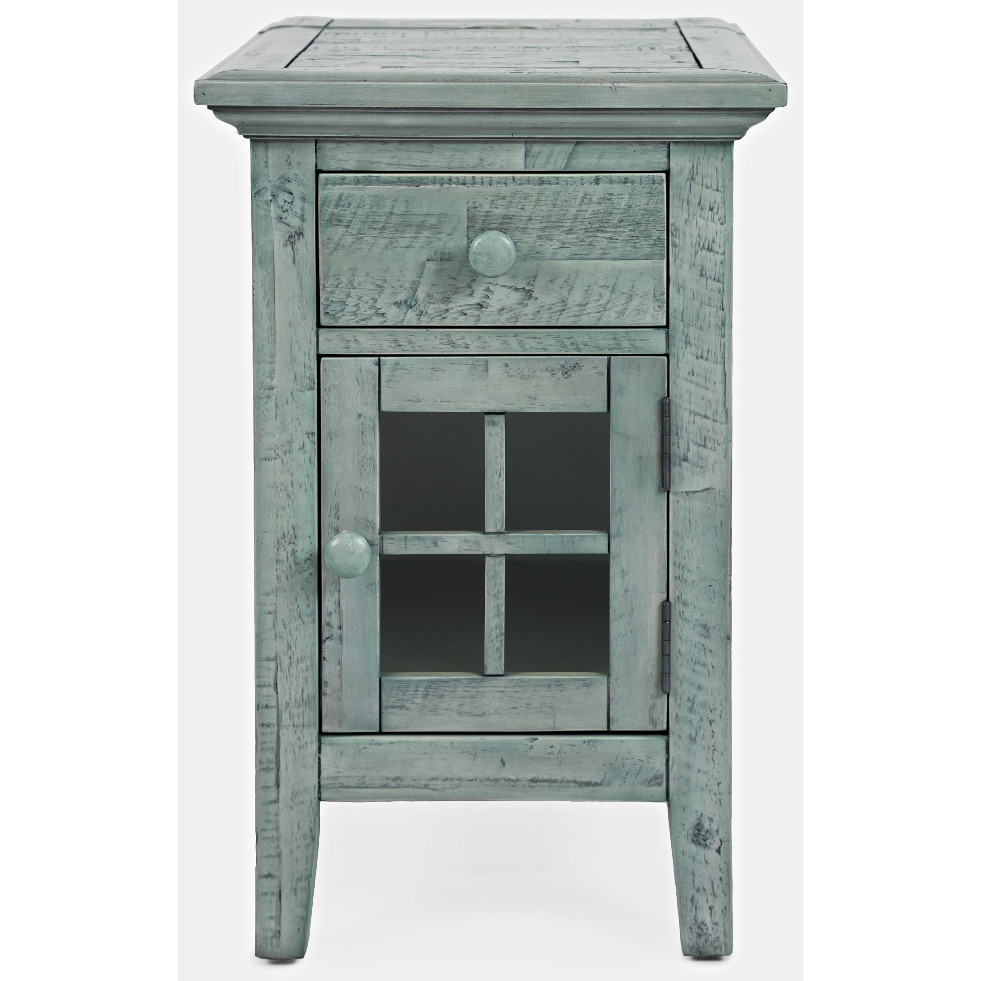 rustic shores chairside accent table jofran kahn furniture rusticshores chairsideaccent gray description glass marble adirondack chairs ethan allen sectional sofas beachy end