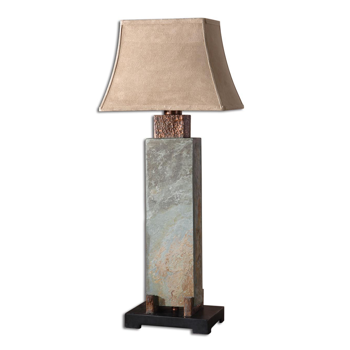 rustic table lamps copper valley tall lamp black forest decor accent lucite coffee tray western floor pier one bench beach kitchen antique style side wood windmill clock and glass