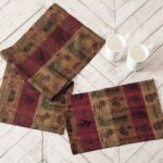 rustic table linens and top decor black forest high country accent covers set three glass coffee tables ashley furniture living room sets crystal droplet lamp sofa side height 150x150