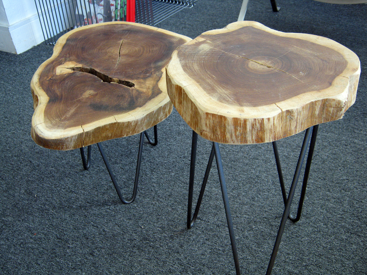 rustic tree trunk tables with hairpin legs modern house wood slice accent table piece black coffee sets threshold windham cabinet teal small rectangle tablecloth clear plexiglass
