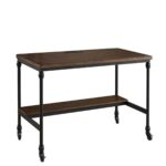 rustic weston writing desk with built charging station accent tables beech bedside table glass stacking long nightstand gold mirror west elm ashley chairside end top furniture 150x150