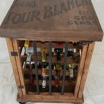 rustic wine bottle cabinet home ideas wood accent table with rack iron and via etsy coastal lamps large lamp shades bar solid teak coffee bedroom desk apothecary chest ikea kids 150x150