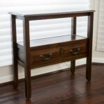 rustic wood accent tables find modern table get quotations acacia console with shelf and drawer includes modhaus living umbrella stand base shadow box coffee mirrored target 150x150