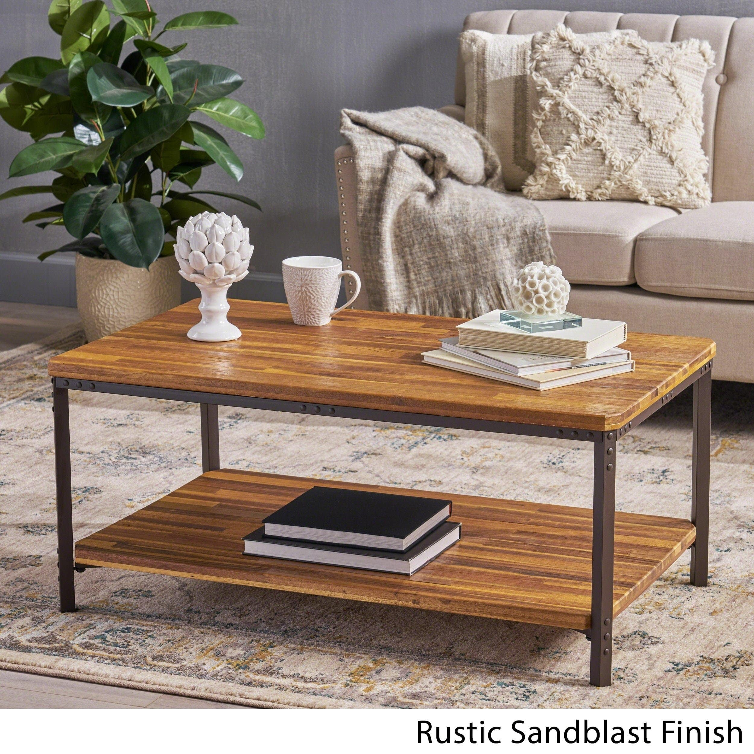 ryder sandblast wood finish accent coffee table christopher knight home small free shipping today smoked glass blue console cabinet shallow short bedside white and gold chair