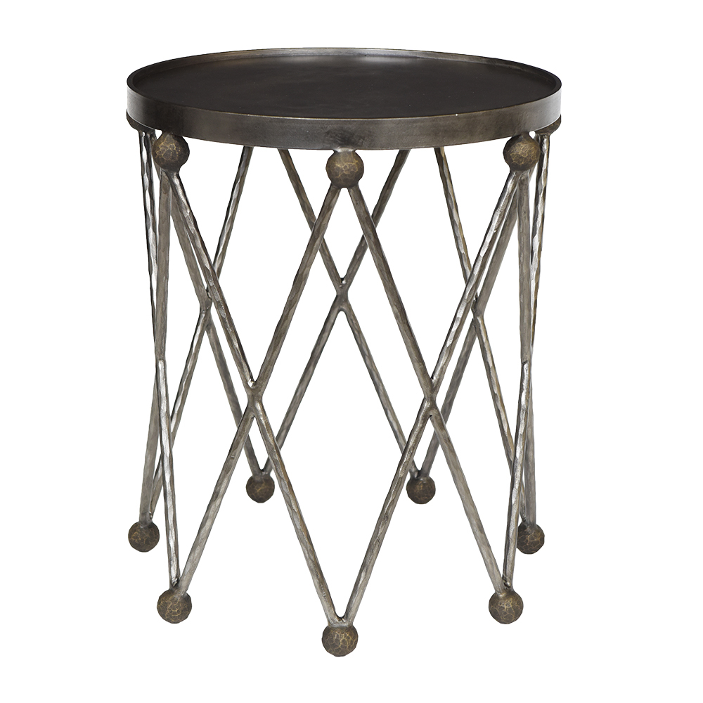 ryman accent table collections ironware international dark finished web media storage end plants mango wood high round small telephone stand large trunk coffee bedding with