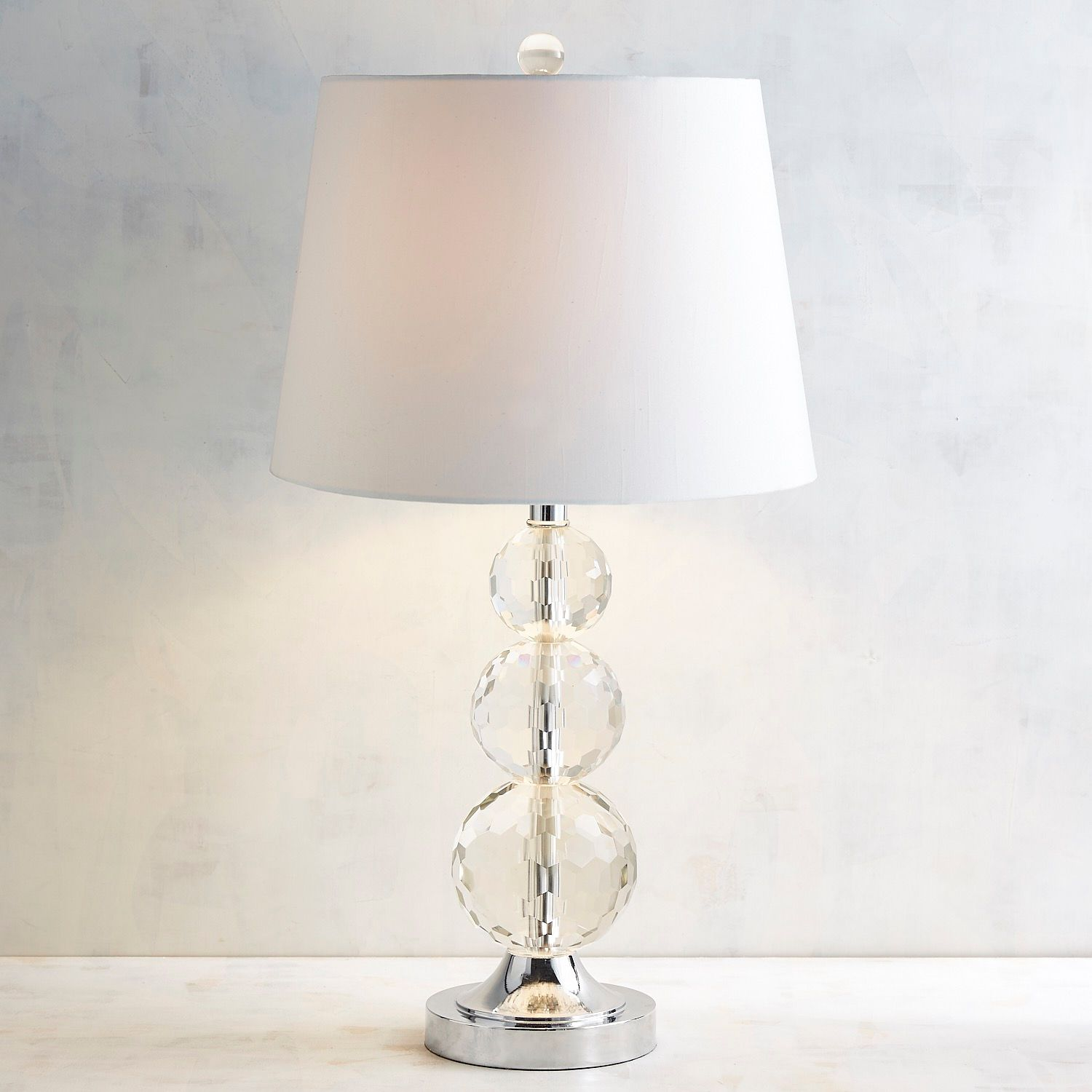 sabrina crystal table lamp pier imports one accent lamps dale tiffany dragonfly silver metal console red pieces wedding reception decorations coffee with drawers pottery barn