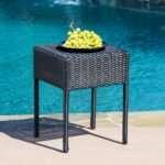 sadie wicker outdoor side table prod accent metal console legs patio furniture with umbrella coffee folding ikea round drop leaf white half moon small black occasional vintage 150x150