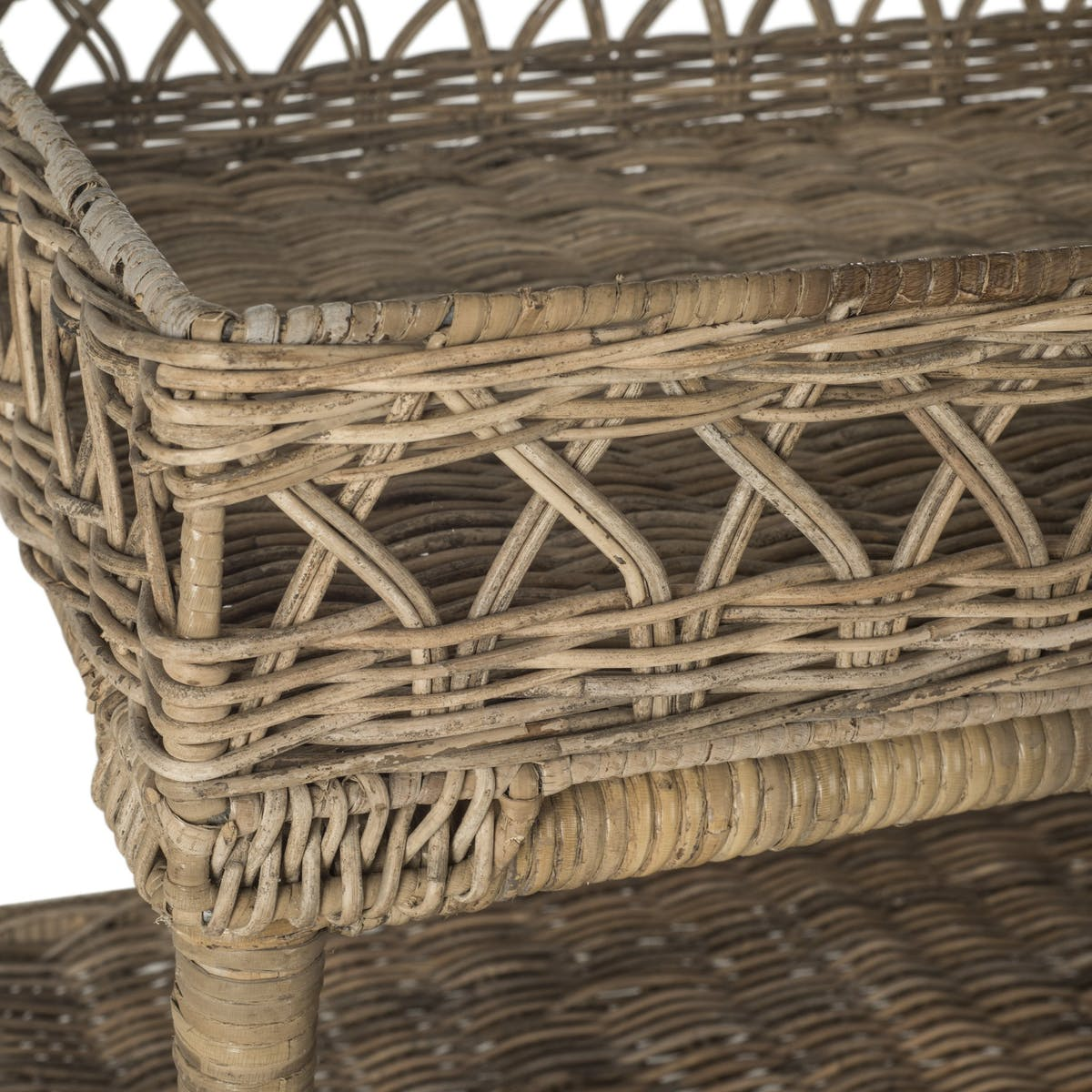 safavieh ajani wicker tier accent table modish detail storage drop leaf end with drawer side units for living room kitchen bar height bistro set industrial diy target patio and