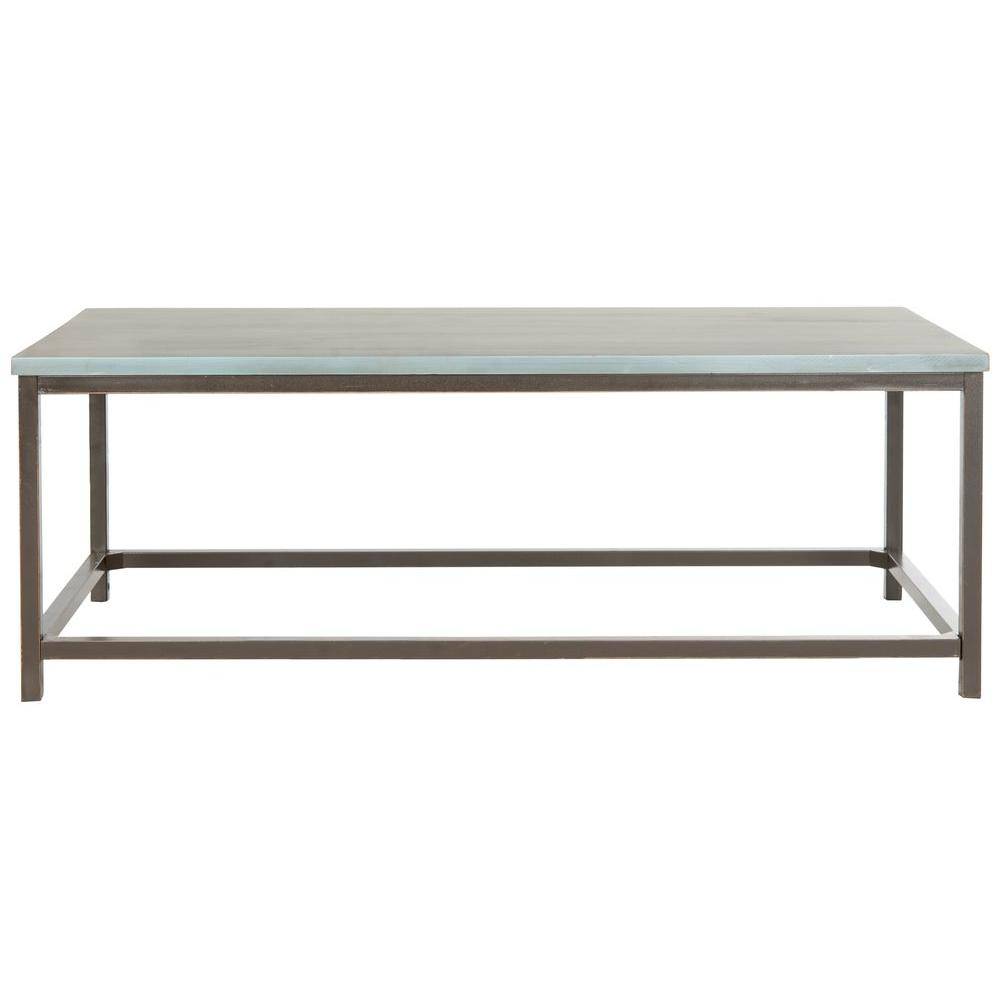 safavieh alec steel blue coffee table the tables distressed accent occasional with storage screen porch furniture round dining cloth west elm mobile chandelier modern living room