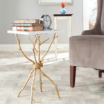 safavieh alexa mabrle top gold accent table prod faux wood narrow farm outdoor bistro target chalk paint crystal lamps white barn door dining nate berkus marble coffee tall oak 150x150
