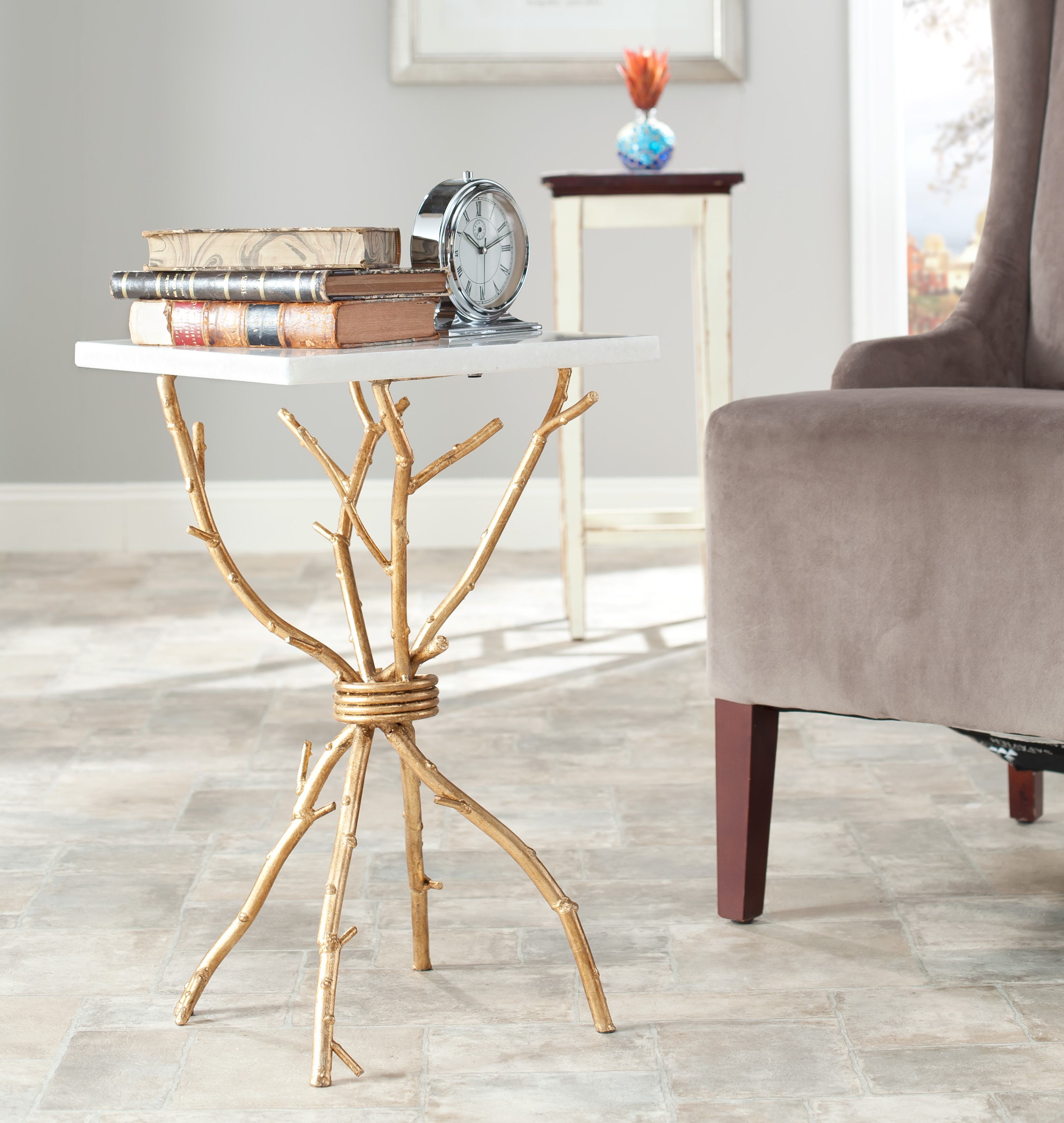safavieh alexa mabrle top gold accent table prod mainstays coffee glass entry small contemporary end tables mirrored bedside lockers solid wood sofa bunnings patio furniture round