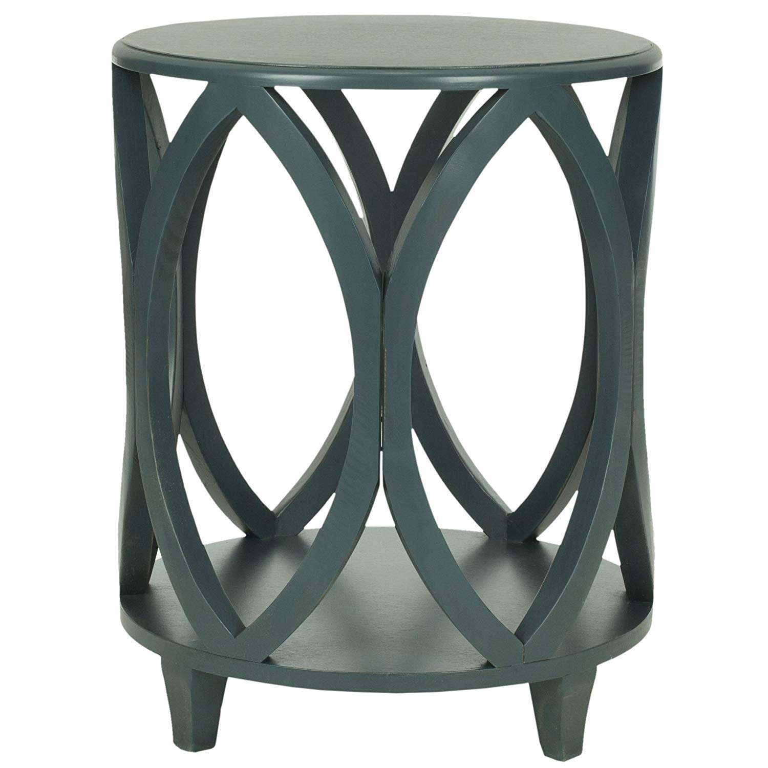 safavieh american homes collection janika steel teal accent table off white kitchen dining barnwood teak rocking chairs patio set with fire pit nate berkus target brown nightstand