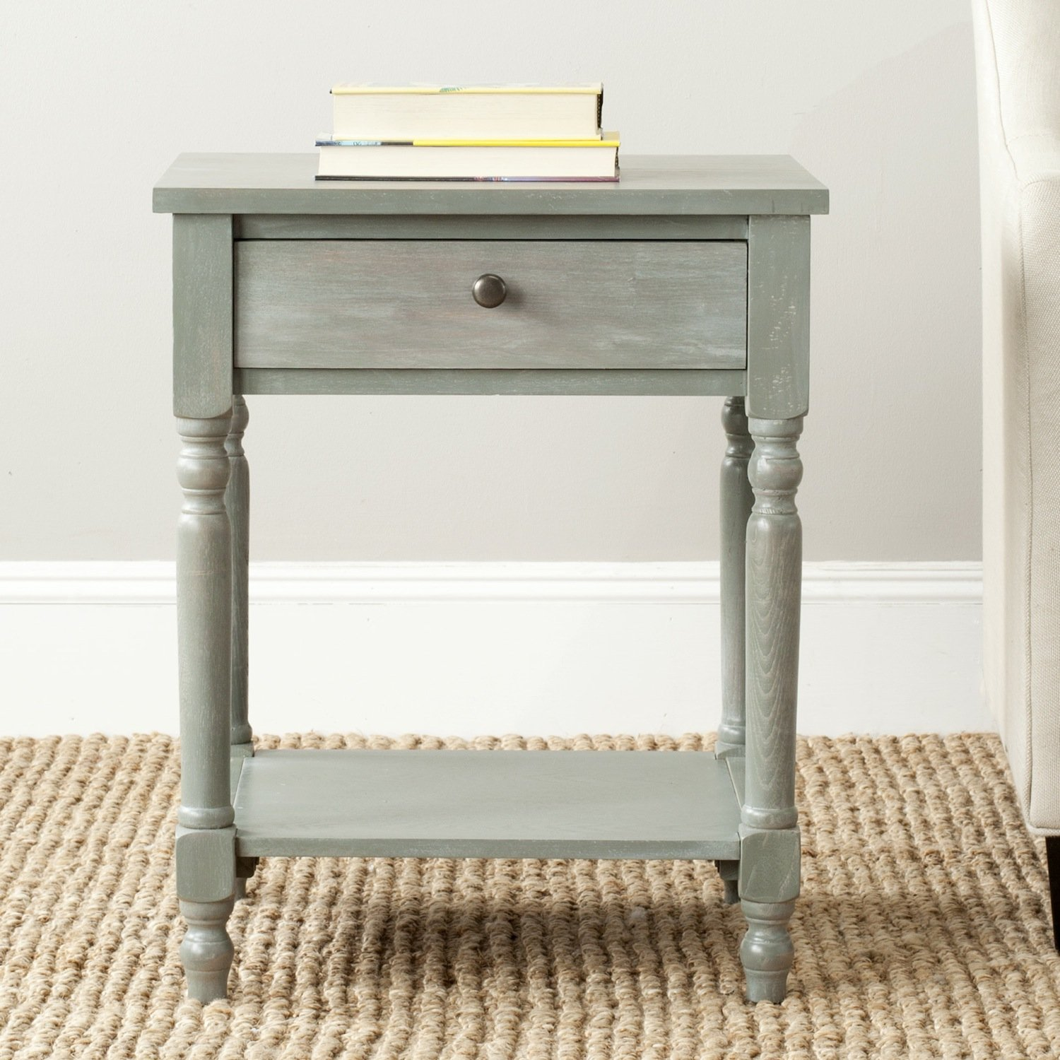 safavieh american homes collection tami ash grey accent table marble and glass blue tiffany lamp hallway chest furniture legs bungee chair target elegant linens antique buffet