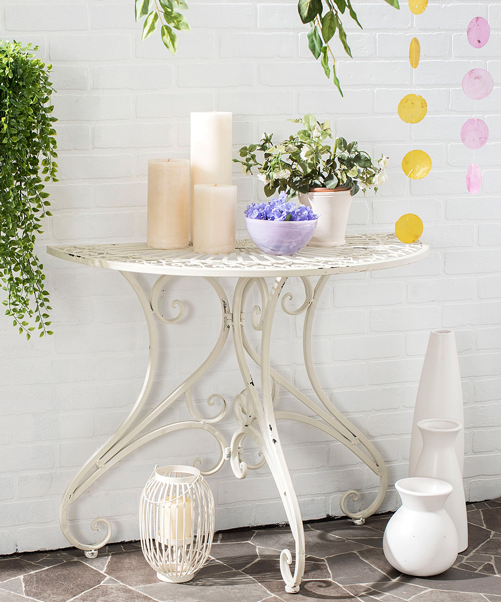 safavieh antique white meredith accent table zulily alt alternate small black lamp metal folding side pottery barn flooring legs cantilever umbrella touch bedside lamps mosaic