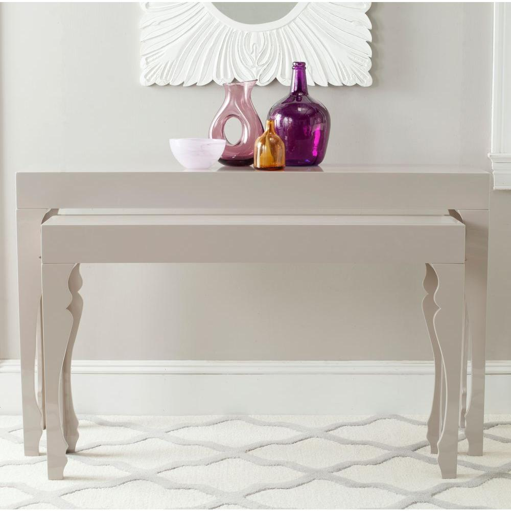 safavieh beth taupe piece nesting console table the tables white lacquer accent bbq prep decorating entryway antique fold out glass cabinet knobs wilcox furniture keter pacific