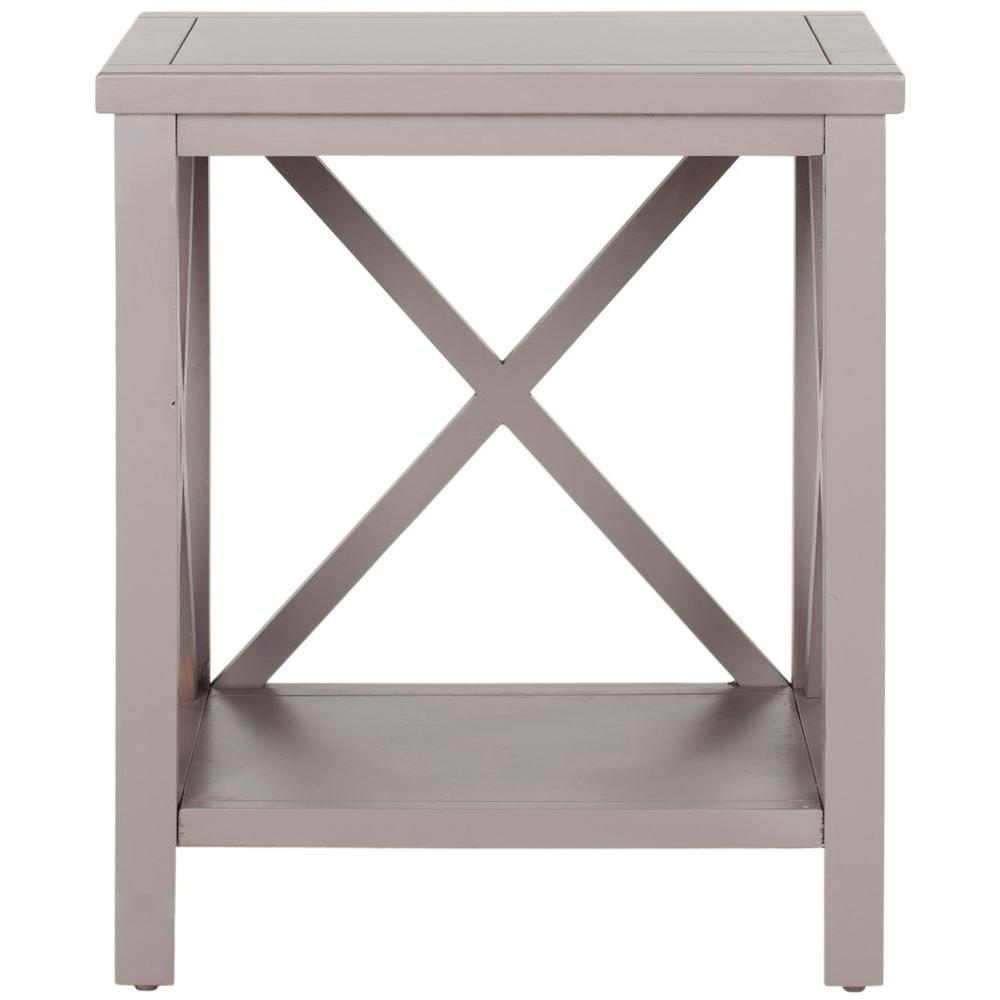 safavieh candence gray end table the quartz tables grey wood accent triangle with drawer winchester furniture wicker basket storage trunk tall sofa small glass top marble metal