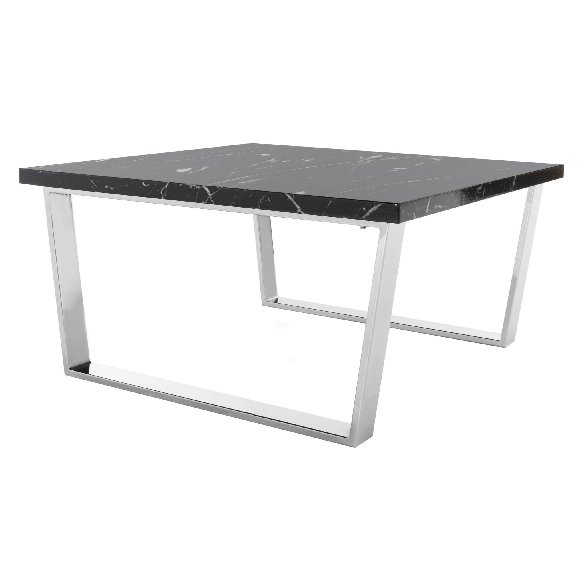 safavieh carmen black chrome square coffee table metal accent free shipping today home tables target wall decor pottery barn francisco dining carpet cover strip chair reclaimed