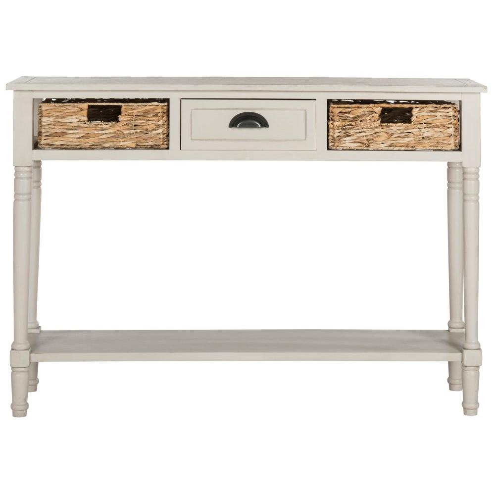 safavieh christa winter melody storage console table the vintage gray tables eryn accent room essentials magnussen bedroom furniture country style jcpenney baby bedding