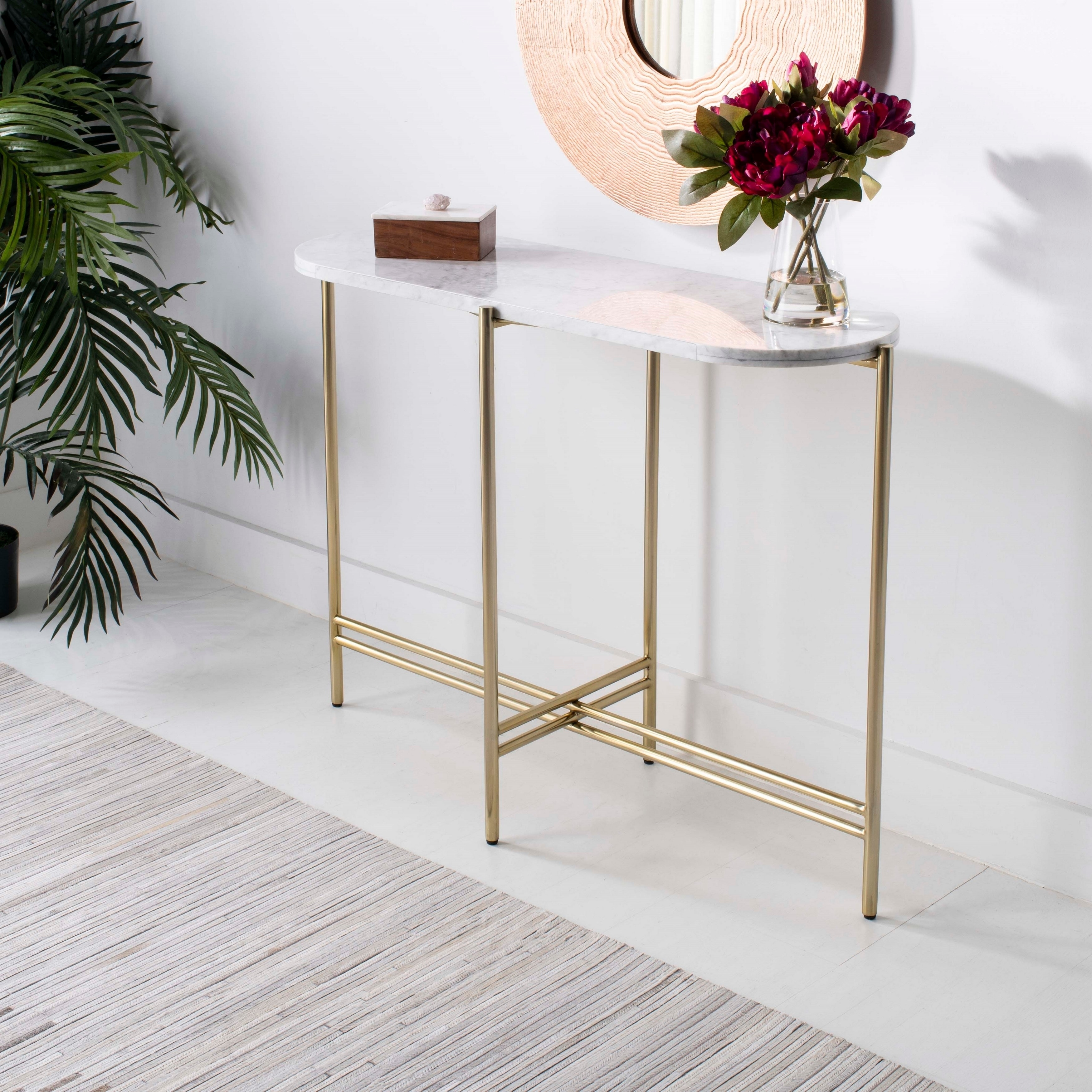 safavieh couture cassie small console table white gold round accent with glass free shipping today antique nesting tables inlay metal legs ikea self adhesive door threshold strips