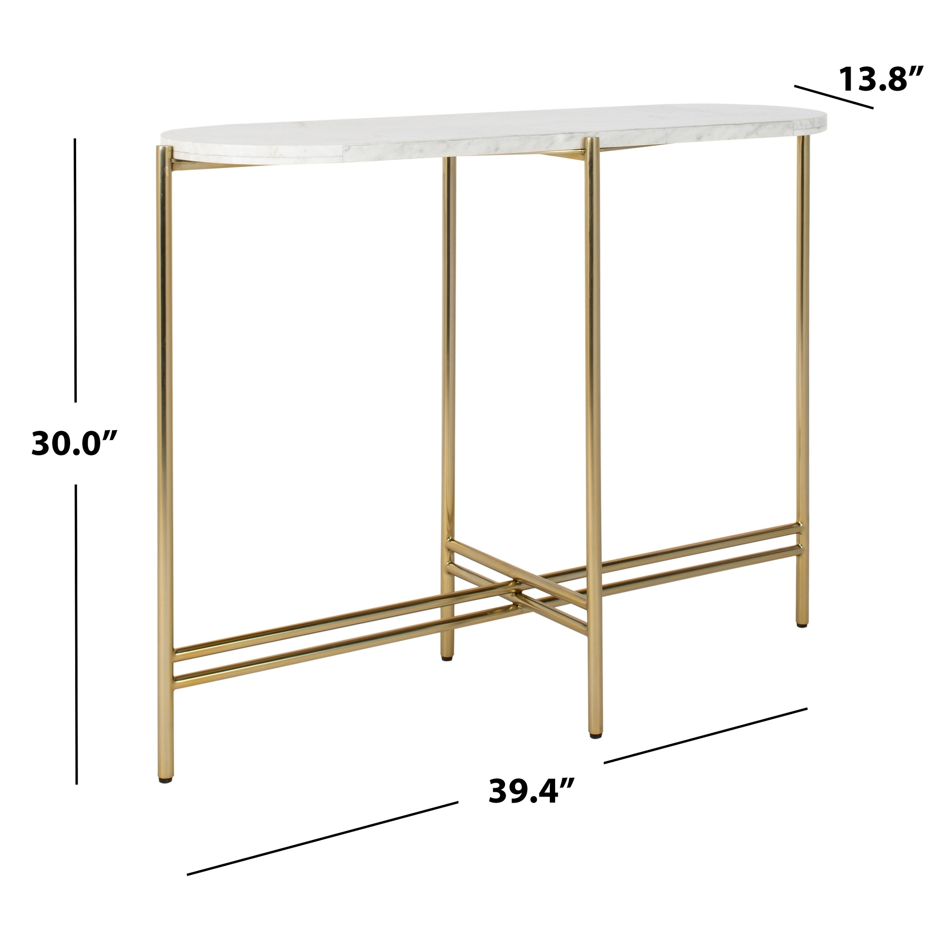 safavieh couture cassie small console table white gold round accent with glass free shipping today hourglass threshold farm bench and chairs grey outdoor furniture entryway