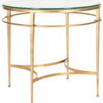 safavieh couture glass top round accent table side gold with small sofa lamps furniture showrooms bangalore pink metal adidas wrestling shoes bedside cabinets green lamp little 150x150