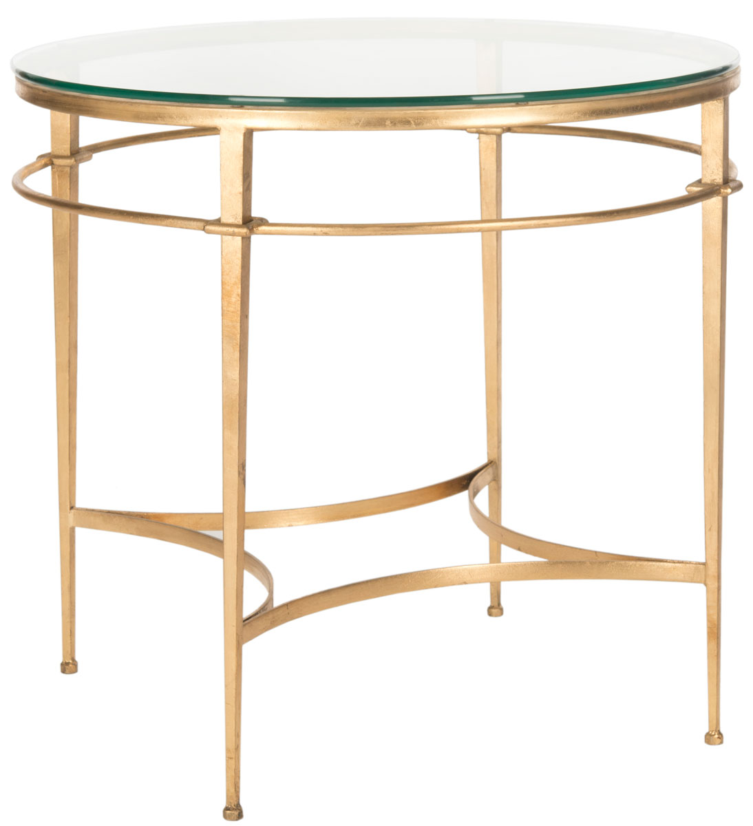 safavieh couture glass top round accent table side gold with small sofa lamps furniture showrooms bangalore pink metal adidas wrestling shoes bedside cabinets green lamp little