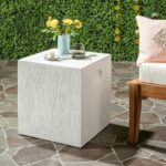 safavieh cube concrete indoor outdoor accent table ivory free shipping today tables for living room terrace furniture hobby lobby coffee modern dining dark cherry wood end big 150x150