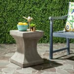 safavieh curby concrete indoor outdoor accent table dark grey gray free shipping today blue ceramic long skinny side white lamp home design metal threshold bar furniture bedside 150x150