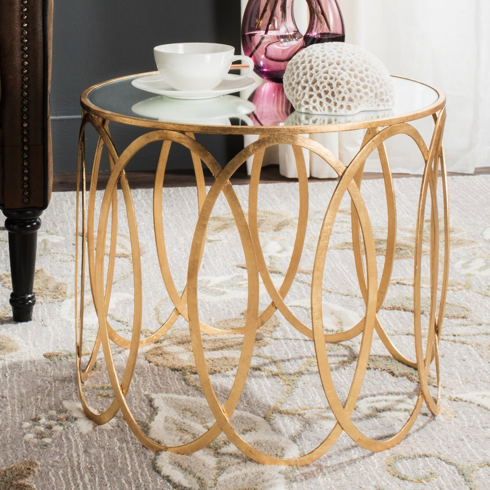 safavieh cyrah gold leaf accent table master driftwood coffee rope lamp classic furniture tall end tables target diy industrial tulsa round plastic tablecloths with elastic patio