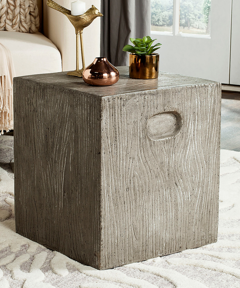 safavieh dark gray cube accent table zulily main wood all gone oak nest tables ikea black drum silver mirrored bedside concrete garden baby changing pad floating console furniture